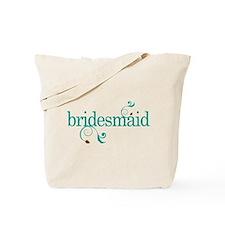 Bridesmaid Wedding Swirl Tote Bag