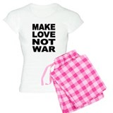 'Make Love Not War' pajamas