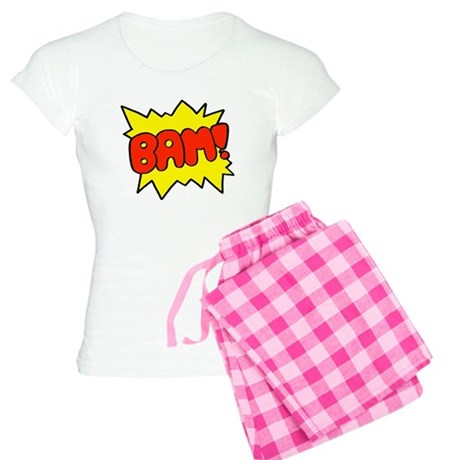 Comic 'Bam!' Women's Light Pajamas