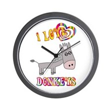 I Love Donkeys Wall Clock