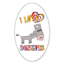 I Love Donkeys Decal