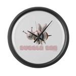 Bubble Bee Large Wall Clock