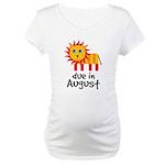 Pregnancy Announcement August Maternity T-Shirt