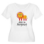 Pregnancy Announcement August Women's Plus Size Sc