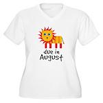 Pregnancy Announcement August Women's Plus Size V-