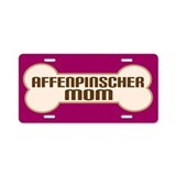 Affenpinscher Mom Dog Lover License Plate