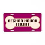 Afghan Hound Mom Dog Lover License Plate