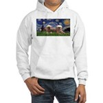 Starry / 2 Affenpinschers Hooded Sweatshirt