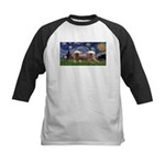 Starry / 2 Affenpinschers Kids Baseball Jersey