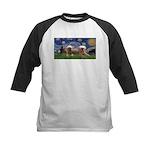 Starry / 2 Affenpinschers Kids Baseball Jersey