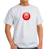 Red Power Button T-Shirt