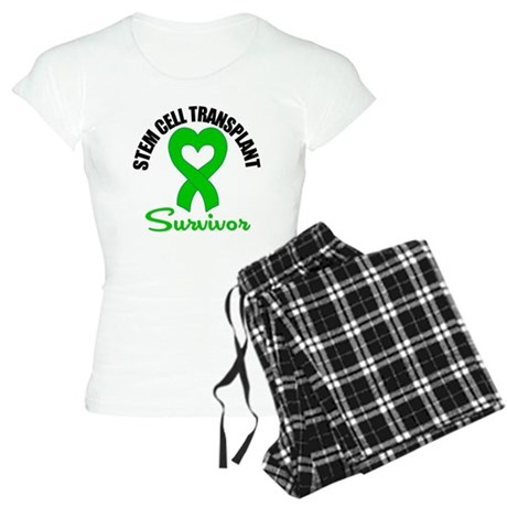 SCT Survivor Heart Ribbon Women's Light Pajamas