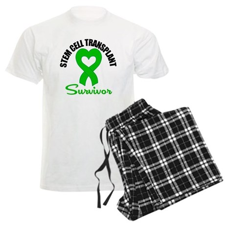 SCT Survivor Heart Ribbon Men's Light Pajamas