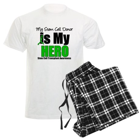 My Stem Cell Donor is My Hero Men's Light Pajamas