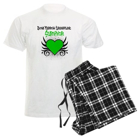 BMT Survivor Grunge Heart Men's Light Pajamas