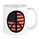 Peace w/ Flag of FREEDOM Mug