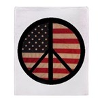 Peace w/ Flag of FREEDOM Throw Blanket