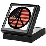 Peace w/ Flag of FREEDOM Keepsake Box