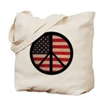 Peace w/ Flag of FREEDOM Tote Bag