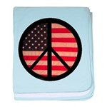 Peace w/ Flag of FREEDOM baby blanket