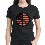 Peace w/ Flag of FREEDOM Women's Dark T-Shirt