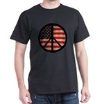 Peace w/ Flag of FREEDOM Dark T-Shirt