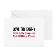 Love Thy Enemy Greeting Cards (Pk of 10)