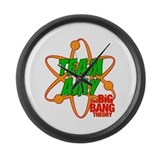 Team Amy Big Bang Theory Large Wall Clock