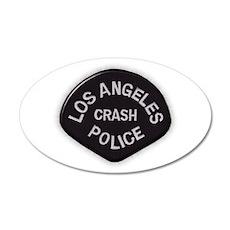 LAPD CRASH 22x14 Oval Wall Peel