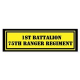 1st Battalion 75th Ranger Bumper Sticker