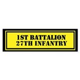 1st Battalion 27th Infantry Bumper Sticker
