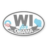 Wisconsin for Obama 2012 Decal