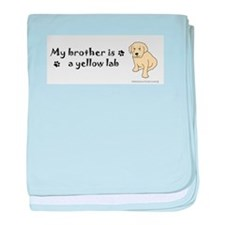 yellow lab gifts baby blanket
