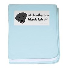 black lab gifts baby blanket