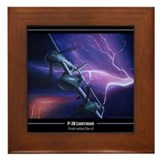Cool P38 lightning Framed Tile