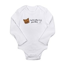 yorkie gifts Long Sleeve Infant Bodysuit