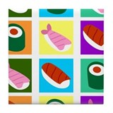 Sushi Pop Art Tile Coaster