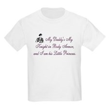 Pink, My Daddy is My Knight Kids T-Shirt