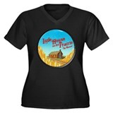 House on Prairie Ingalls Women's Plus Size V-Neck