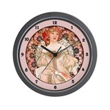 Unique Alphonse mucha Wall Clock