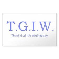 Thank God It's Wednesday! Decal