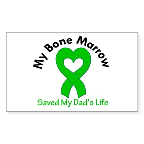 BoneMarrowSavedDad Sticker (Rectangle 10 pk)
