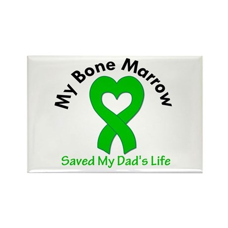 BoneMarrowSavedDad Rectangle Magnet