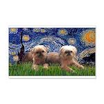 Starry / 2 Affenpinschers 22x14 Wall Peel