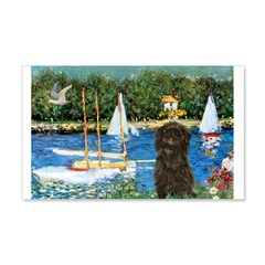 Sailboats / Affenpinscher 20x12 Wall Decal