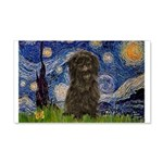 Starry Night / Affenpinscher 20x12 Wall Decal