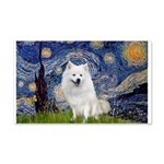 Starry-Am. Eskimo Dog 20x12 Wall Decal