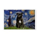 Starry-Am.Staffordshire (blk) 20x12 Wall Decal