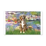 Lilies2-Australian Shep (#5) 20x12 Wall Decal