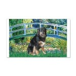 Bridge-Aussie Shep - Tri (L) 20x12 Wall Decal